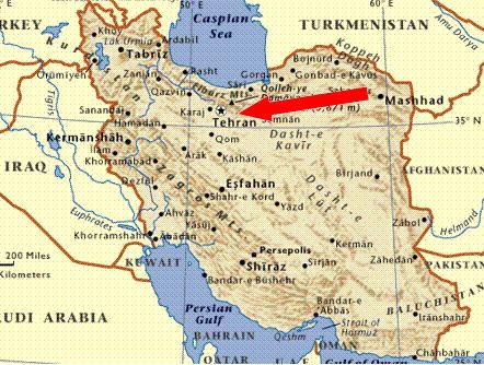 map ↑イラン地図 大きな荷物を持っていたので、とりあえずテヘラン駅に行って... イラン旅行